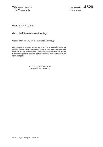 Thüringer Landtag - 4. Wahlperiode Drucksache 4/4520 4 ...