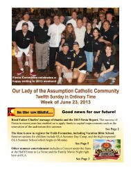 Bulletin for June 23 - Our Lady of the Assumption