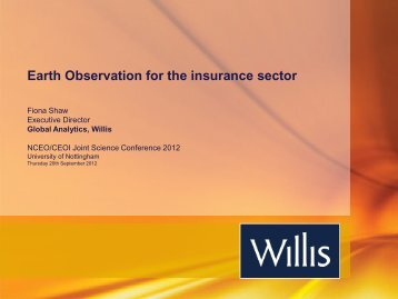Earth Observation for the insurance sector - NCEO - National Centre ...