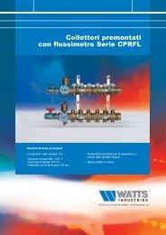 Collettori premontati con flussimetro Serie CPRFL - Watts Industries