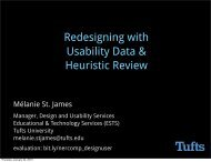 3. Redesign Using Usability Data and Heuristic Review - NERCOMP