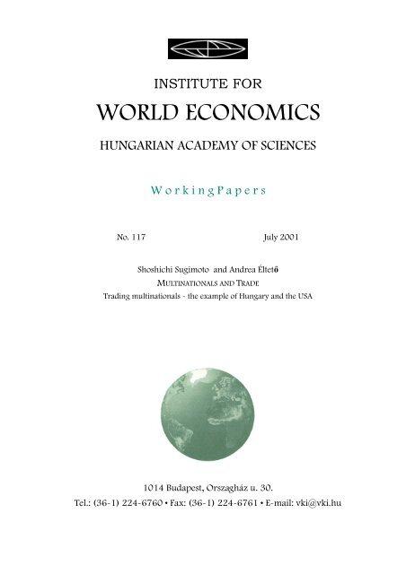 Multinationals and trade - MEK