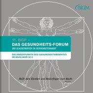11. BGF – DAS GeSunDheitS-Forum - patiodoc AG