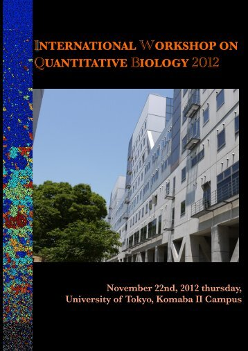 IWQB2012 Abstract Booklet is available. - Funahashi Lab. - Keio ...
