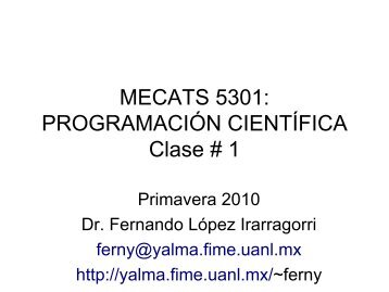 Clase # 1