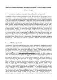 Elementi di economia internazionale: la bilancia dei ... - Dipecodir.it