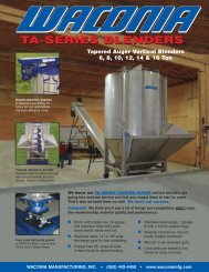 Download Tapered Auger Vertical Blend System ... - Waconia Mfg
