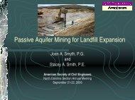 Passive Aquifer Mining for Landfill Expansion - Smith Gardner, Inc