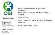 Educación, medio ambiente y desarrollo sostenible - Revista ...