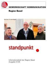 Informationsblatt der Region Basel Ausgabe 01/09 - syndicom ...