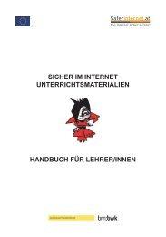 Handbuch für LehrerInnen - Sicher-Im-Internet.at