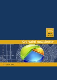Kvartalni newsletter III kvartal 2009. - FIMA Global Invest