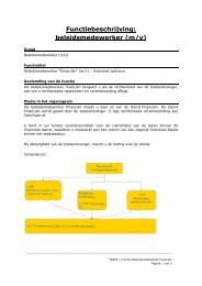 Functiebeschrijving: beleidsmedewerker (m/v)