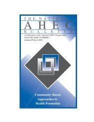Autumn Winter 2005 - National AHEC Organization