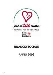 Bilancio Sociale HCF 2009 - Anmco