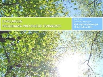 Radionica o evaluaciji programa prevencije ovisnosti
