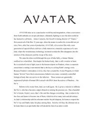 AVATAR - Final Notes 12.3 - Visual Hollywood
