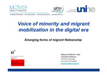 Voice of minority and migrant mobilization in the digital era - LMI