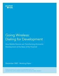 Going Wireless: Dialing for Development - Connected-Inge