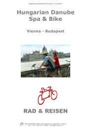 Hungarian Danube Spa & Bike 2012 - Bike Tours To Go