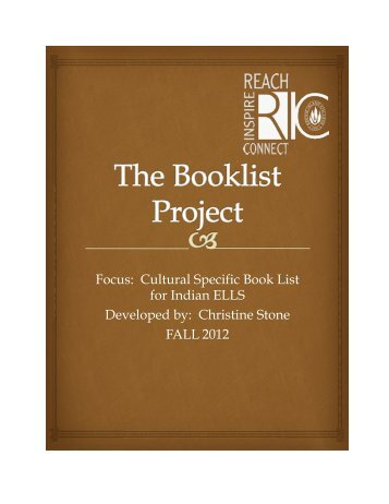 Indian Booklist by Christine Stone for Grades K-6.pdf - RITELL