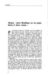 Ghana : Jerry Rawlings ou un populisme à deux ... - Politique Africaine