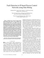 Fault Detection in IP-based Process Control Networks using Data ...