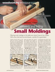 Mitering And Fitting Small Moldings - gerald@eberhardt.bz