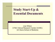 Study Start-Up & Essential Documents - UC Davis Health System