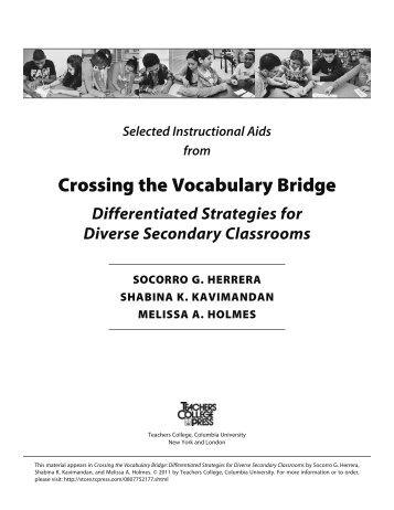Crossing the Vocabulary Bridge - Teachers College Press