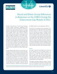 Racial and Ethnic Group Differences in Responses on the CHKS ...