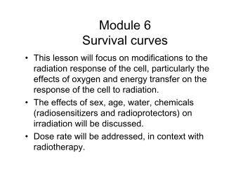 Module 6 Survival curves