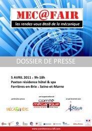 MEC@FAIR, Dossier de presse (format PDF - 1,25 Mo ) - Comité ...