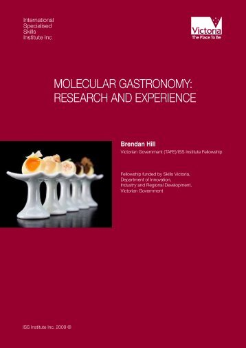 molecular gastronomy: research and experience - International ...