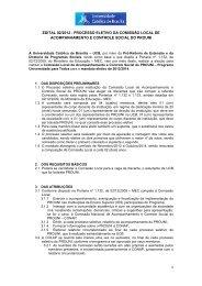 Edital! - Universidade Católica de Brasília