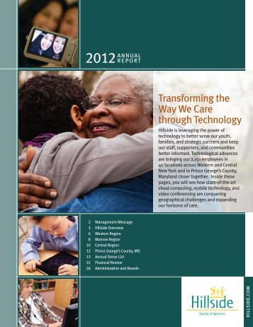 2012 Annual Report - Hillside Family of Agencies