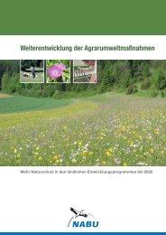 Weiterentwicklung der Agrarumweltmaßnahmen. Mehr Naturschutz ...