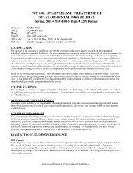 psy 668 - Association for Behavior Analysis International