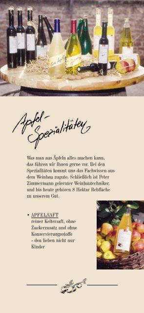 Apfel-Spezialitäten im Überblick - Apfelgut Zimmermann