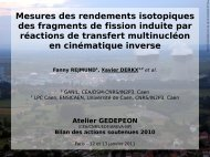 Mesures des rendements isotopiques des fragments de ... - gedepeon