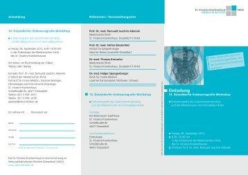 Programmfaltblatt - Verbund Katholischer Kliniken Düsseldorf