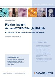 Pipeline Insight: Asthma/COPD/Allergic Rhinitis - Datamonitor