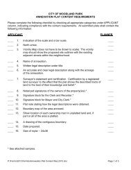 2013 Annexation Plat Content Requirements - City of Woodland Park