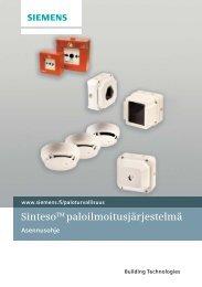 SintesoTM paloilmoitusjärjestelmä - Siemens