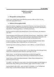 Dr. Uwe Dathe Publikationsverzeichnis - Friedrich-Schiller ...