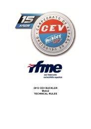 2012 CEV BUCKLER Moto2 TECHNICAL RULES