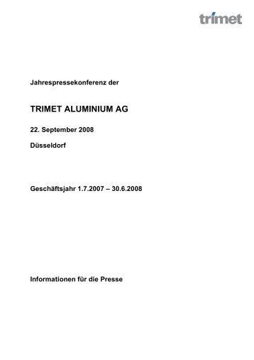 Pressemitteilung - TRIMET Aluminium SE