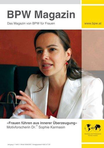 BPW Magazin - Business & Professional Women Austria