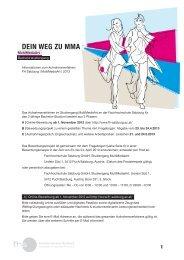 DEIN WEG ZU MMA - Fachhochschule Salzburg