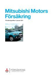 Mitsubishi Motors Försäkring - Folksam